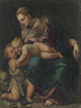 Maria mit dem Kinde und dem Johannesknaben