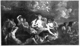 Venus, Tritonen und Liebesgötter