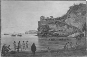 Blick von Posilippo auf Ischia