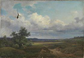 Landschaft mit Eiche