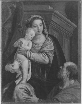 Maria mit Kind und einem Stifter