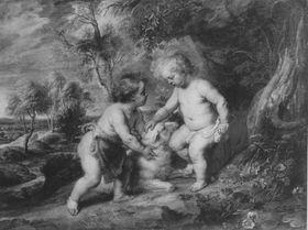 Jesus und Johannes in jugendlichem Alter