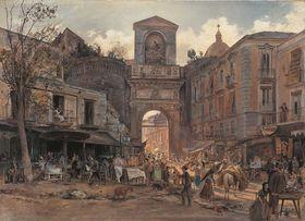 Die Porta Capuana in Neapel