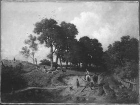 Landschaft mit Schafherde