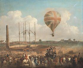 George Biggins Aufstieg in Lunardis Ballon