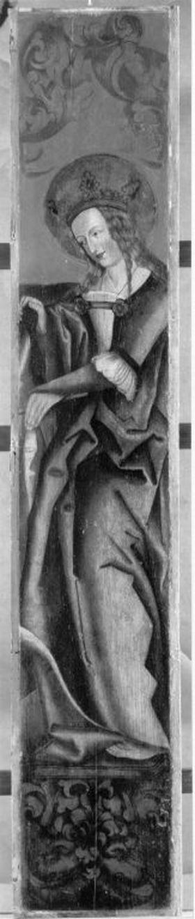 Hl. Katharina (Rückseite: Rest eines Strahlenkranzes)