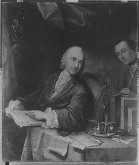 Hofkanzler Johann Philipp Christoph Reibelt mit Sekretär (1686-1766)