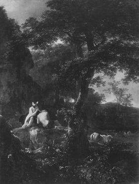 Abendlandschaft mit Merkur und Argus