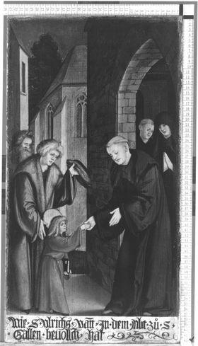 Der hl. Ulrich vor dem Abt von St. Gallen