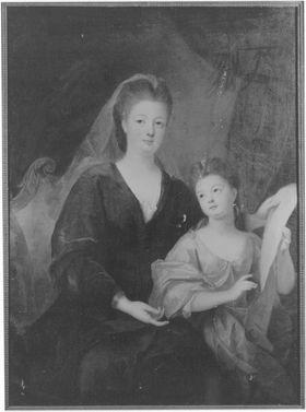 Bildnis der Herzogin Bourbon-Condé und einer ihrer Töchter