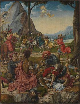 Hll. Anno und Gregor der Mohr (Rückseite: Martyrium der thebaischen Legion)