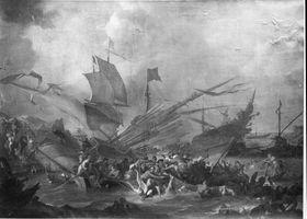 Seeschlacht zwischen Christen und Türken (Lepanto 1571?)