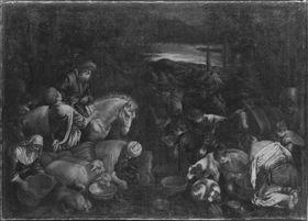 Die Israeliten an der Felsenquelle