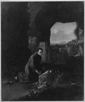 Junger Mönch in einer Höhle (Der hl. Franziskus)