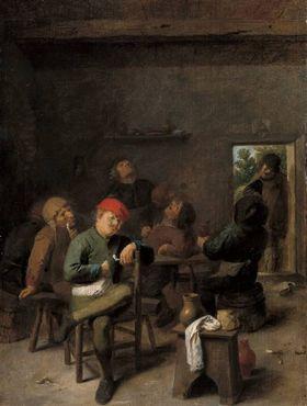 Rauchende und trinkende Bauern
