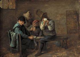 Kartenspielende Bauern