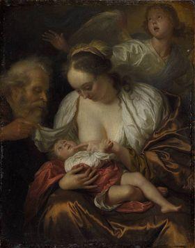 Die Heilige Familie mit einem Engel