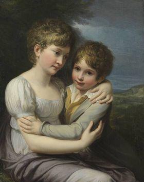 Zwei Kinder des Künstlers