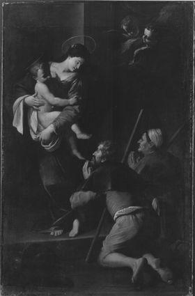Die Madonna erscheint zwei Pilgern