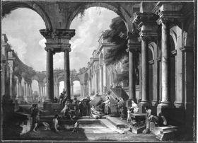 Architekturbild (Christus heilt den Gichtbrüchigen)