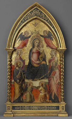 Madonna mit vier Heiligen und Engeln