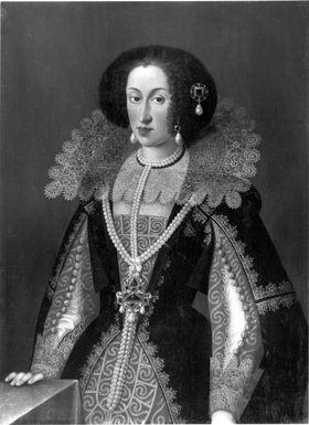 Bildnis der Maria Anna von Österreich, zweite Gemahlin des Kurfürsten Maximilian I. von Bayern (1610-1665)