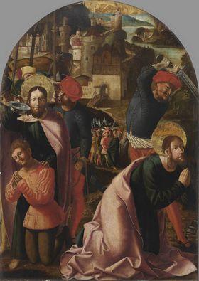 Jakobus-Stephanus-Altar: Der hl. Jakobus tauft Josias und Hinrichtung des Jakobus