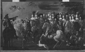 Kurfürst Max II. Emanuel von Bayern auf der Reiherjagd