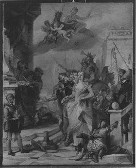 Iphigenie wird zum Tempel geführt