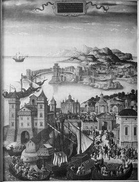 Historienzyklus(?): Königin Artemisia erobert Rhodos