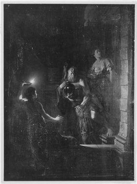 Aeneas verlässt das brennende Troja