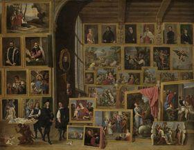 Ansicht der Galerie des Erzherzogs Leopold in Brüssel (IV)