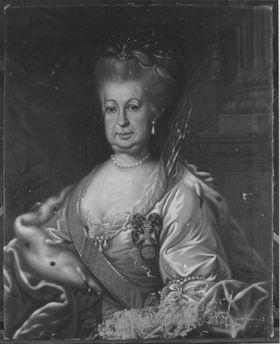 Bildnis der Elisabeth Auguste, Gemahlin des Karl Theodor von Sulzbach