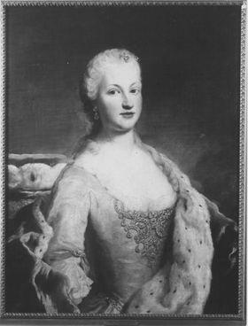 Bildnis der Maria Franziska Dorothea von Pfalz-Sulzbach, Herzogin von Zweibrücken-Birkenfeld (1724-1794)