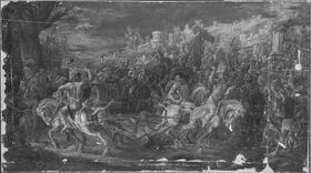 Mettius Fufetius wird von Pferden zerrissen