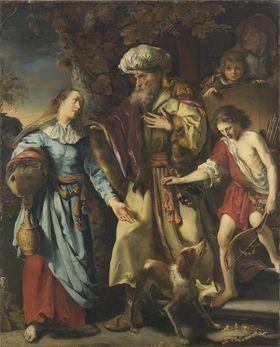 Abraham verstößt Hagar und Ismael