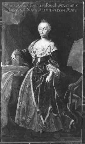 Bildnis der Maria Amalia, Tochter Kaisers Joseph I., Gemahlin Kaiser Karls VII.