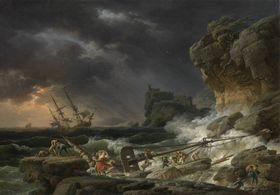 Schiffbruch im Gewittersturm