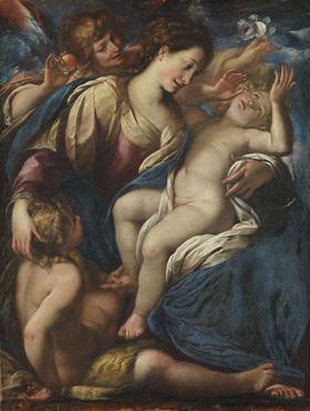 Maria mit Kind, dem Johannesknaben und einem Engel