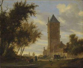 """Landschaft mit dem Utrechter """"Plompetoren"""""""