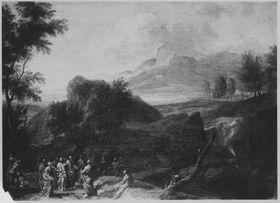 Landschaft mit Christus und Jüngern