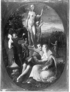 Venus als Patronin der Liebenden (nach Jan Saenredam)