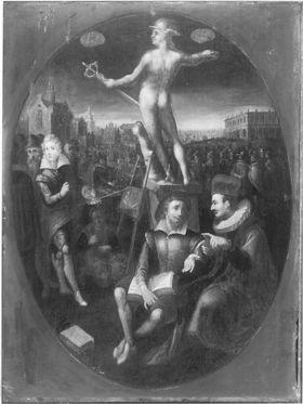 Merkur als Patron der Gelehrten und Künstler (nach Jan Saenredam)