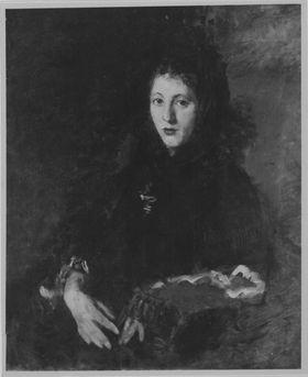 Frau im Lehnstuhl
