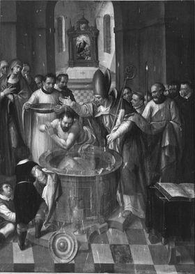 Taufe des hl. Augustinus durch den hl. Ambrosius