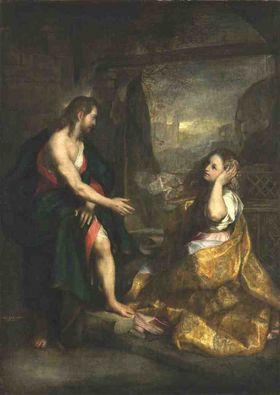 "Christus und Magdalena - ""Noli me tangere"""