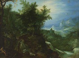 Waldlandschaft mit dem hl. Hieronymus