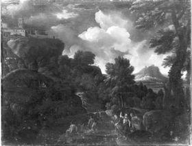 Landschaft mit Christus und den Emmaus-Jüngern