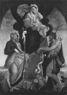 Maria mit Kind und den hll. Jacobus dem Älteren und Johannes dem Täufer