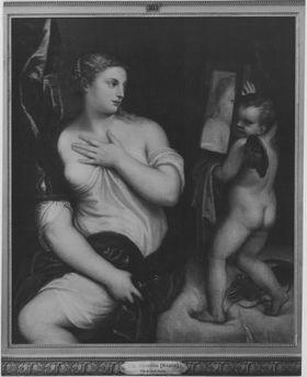 Venus und Cupido mit Spiegel